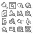 search icons set on white background vector image