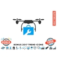Service Drone Flat Icon With 2017 Bonus Trend vector image vector image