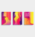 set colorful gradient cover template design vector image