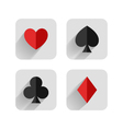set of hearts clubs spades and dimonds icons ca vector image vector image