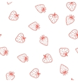 Strawberry seamless pattern Cute tasty vector image vector image