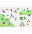 summer outdoor scene - active family vacation vector image vector image