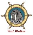 the walrus vector image vector image