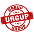 urgup red round grunge stamp vector image vector image
