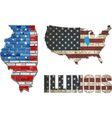 USA state of Illinois on a brick wall vector image vector image