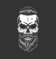 vintage monochrome hipster skull vector image