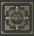 vintage set frames template boroque borders vector image