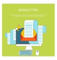 Web contact and business newsletter vector image