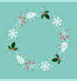 winter xmas background decoration vector image vector image