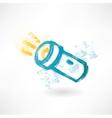 Brush icon with flashlight vector image