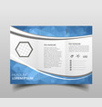 blue polygon elegance business trifold business vector image