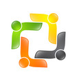 abstract logo depicting the stylized people who vector image