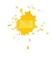 Abstract watercolor aquarelle hand drawn yellow vector image vector image