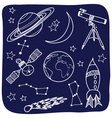 Astronomy - space and night sky objects vector image vector image