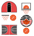 Basketball Game Objects Icons vector image