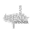 bead spinner text word cloud concept vector image vector image