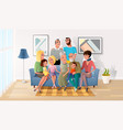 big family spending time together at home vector image