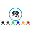 bitcoin cash banknotes flat icon vector image