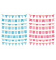 blue and pink bunting vector image vector image