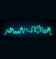 blue neon skyline bordeaux bright bordeaux vector image vector image
