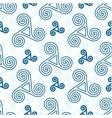 Blue triskel celtic symbols seamless pattern vector image vector image