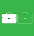 briefcase icon white color vector image vector image