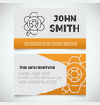 business card print template with brooch logo vector image