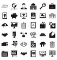 business protection icons set simple style vector image vector image