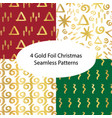 christmas gold foil seamless background set vector image