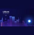 city light background urban vector image