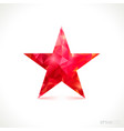 colorful glossy red star isolated vector image vector image