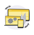 cross-platform software abstract concept vector image vector image