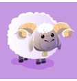 cute lamb on isolated background vector image vector image