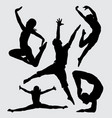 dancing and sport silhouette vector image vector image