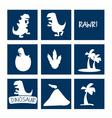 Dinosaur icon set vector image