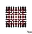 Dots square icon vector image