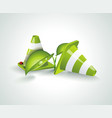 eco green symbol nature design elements vector image vector image