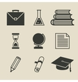 Education icons set - vector image vector image