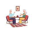 elderly couple spending time together cartoon old vector image vector image