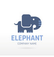 elephant wild animal icon text lettering logo vector image