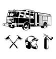 Firefighters elements for labels or logos vector image