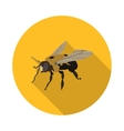 flat icon bee carpenter vector image