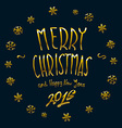 gold Merry Christmas and New Year 2016 lettering vector image vector image