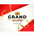 grand opening celebration background with golden vector image vector image