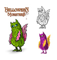 Halloween monsters spooky creature EPS10 file vector image