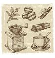 hand drawn coffee vector image vector image
