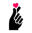 hand with heart new icon two-tone silhouette vector image