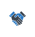 handshake related glyph icon vector image vector image