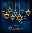 happy hannukkah with star symbol of jews vector image vector image