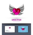 Heart and wings Logo icon emblem template business vector image vector image